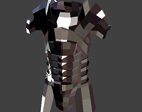 Lowpoly Medieval Armor 3D asset