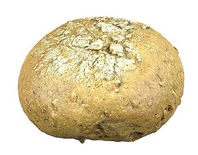 Photorealistic 3D Scanned Rye Bread VR / AR ready
