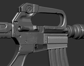 3D model M16 Rifle Game Ready and High Resolution