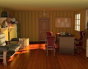 Sherlock Holmes Detective classic office 3D model