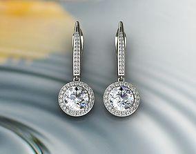 ruby Diamond Earrings 3D print model