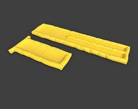3D asset Inflatable rescue raft - 2 variants - 3 LODs