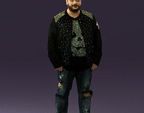 figurines Man in black jacket 18 0525 3D Print Ready