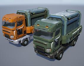 3D asset Sci-Fi Truck - game model