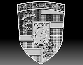 Porsche logo for CNC router or 3D printer car