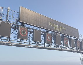 3D model Electronic traffic information display