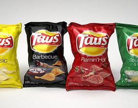 Food packaging chips 3D model
