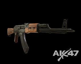 3D model russian rifle ak47 Kalashnikov low poly
