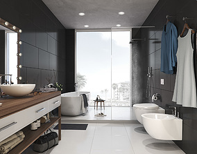 Modern and Stylish Bathroom 3D model