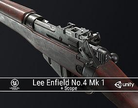 PBR Lee Enfield No 4 Mk 1 3D asset