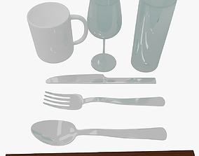 3D Kitchen Utensils 3