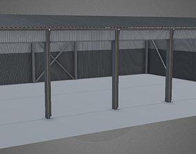 3D Industrial Hangar shed stockroom