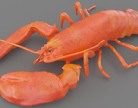 Lobster 3D asset game-ready