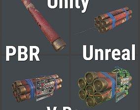 Dynamite Game ready 3D asset