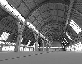 3D architectural Empty Spacious Garage