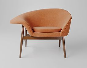 3D Hans Olsen Fried Egg Lounge Chair model