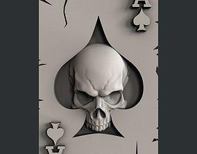 3d STL models for CNC ace of spades