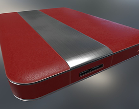 3D asset External Hard Drive Red Leathe Version - 3