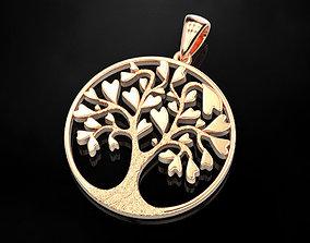 3D print model Pendant Tree of Hearts