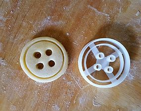 3D print model Button Cookie Cutter