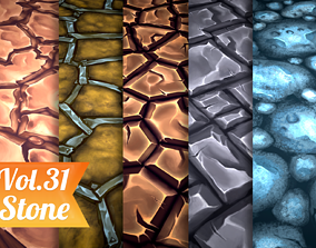 Stylized Stone Vol 31 - Hand Painted 3D model