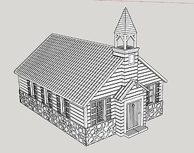 North American church 18th or 19th century 3D print model