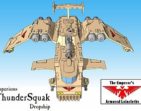 3D print model 6mm and 8mm ThunderSquak Dropship
