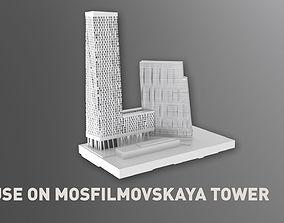 3D model House on Mosfilmovskaya Tower