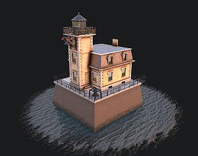 Lighthouse Hudson-Athens 3D asset