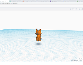 3D printable model sculptures fox polygon