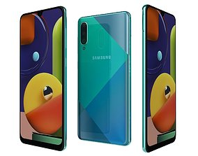 Samsung Galaxy A50s Prism Crush Green 3D
