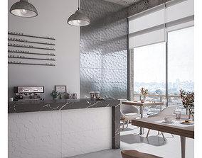 3D Coffee Shop Set