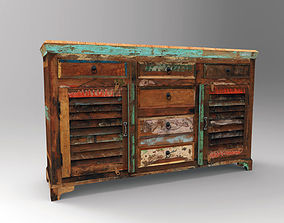 3D asset VR / AR ready PBR Chest Of Drawers