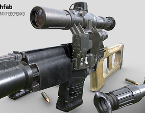 3D model game-ready VSS VINTOREZ scope