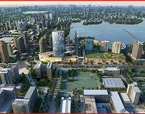 3D Modern City Animated 074