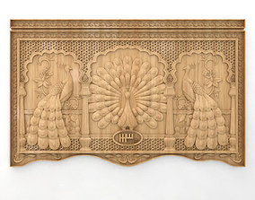 3D panels with peacocks