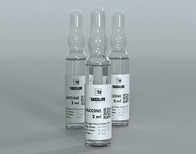treatment Glass ampoule vaccine 3D model