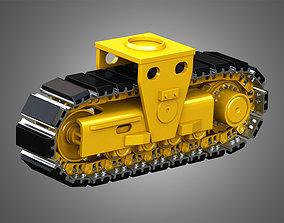 3D model Crawler Tractor