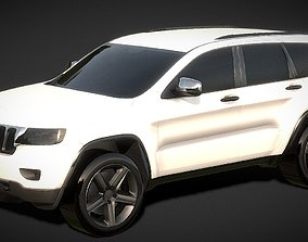 Jeep Grand Cherokee SUV 3D Model low-poly