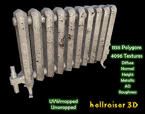 3D model Radiator - PBR - Old Textured