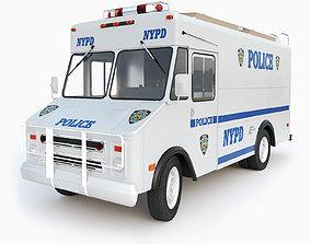 3D model Chevrolet P30 step van NYPD