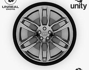 3D asset Wheel Steel-Chrome Alloy Rim Lexus 5
