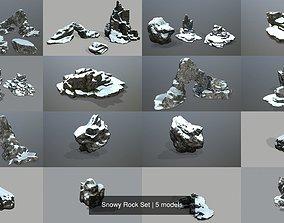 Snowy Rock Set 3D model
