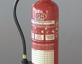 Fire Extinguisher 3D model PBR fireman