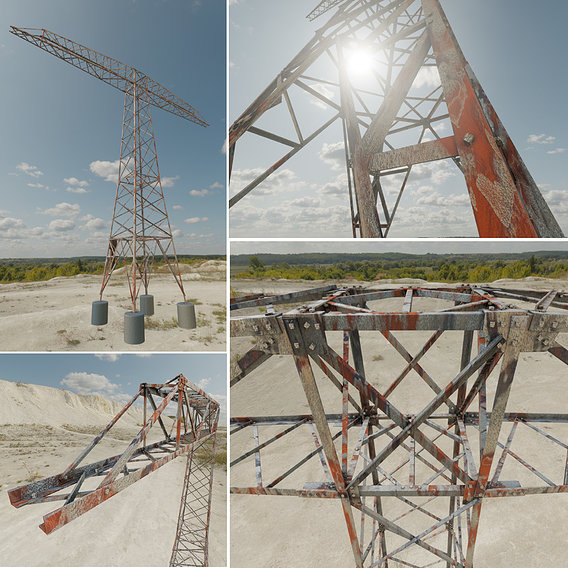 Rusty Transmission Tower 18 Meter Version