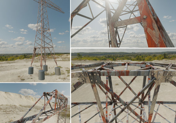 Rusty Transmission Tower 18 Meter Version