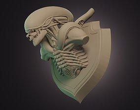 3D print model Xenomorph Trophy