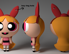 games-toys blossom keychain model for 3d print