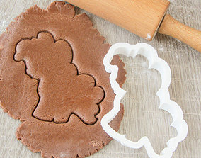 Set Pony cookie cutter for professional 3D printable model