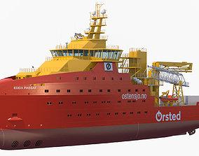 Wind Farm Support Vessel Edda Passat 3D